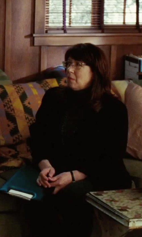 Ann Dowd with Diane Von Furstenberg Slim Fit Trousers in Our Brand Is Crisis
