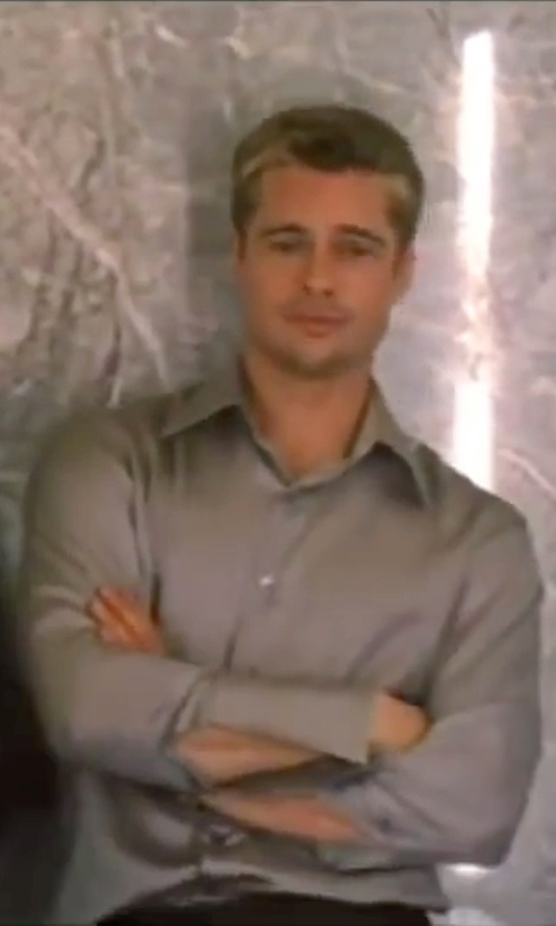 Brad Pitt with John Varvatos Star USA Micro-Check Dress Shirt in Ocean's Eleven