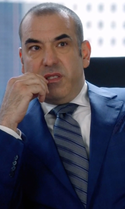 Rick Hoffman with Ted Baker London 'Tussah Stripe' Silk Tie in Suits
