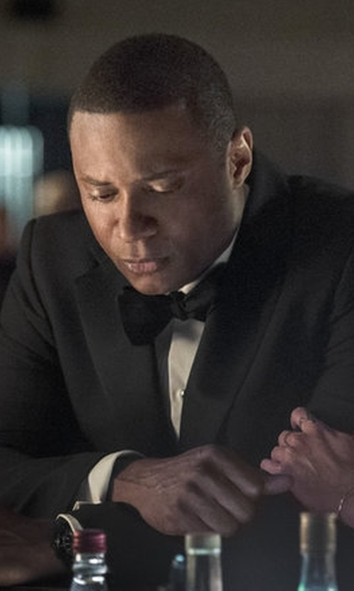 David Ramsey with Ted Baker London Silk Bow Tie in Arrow