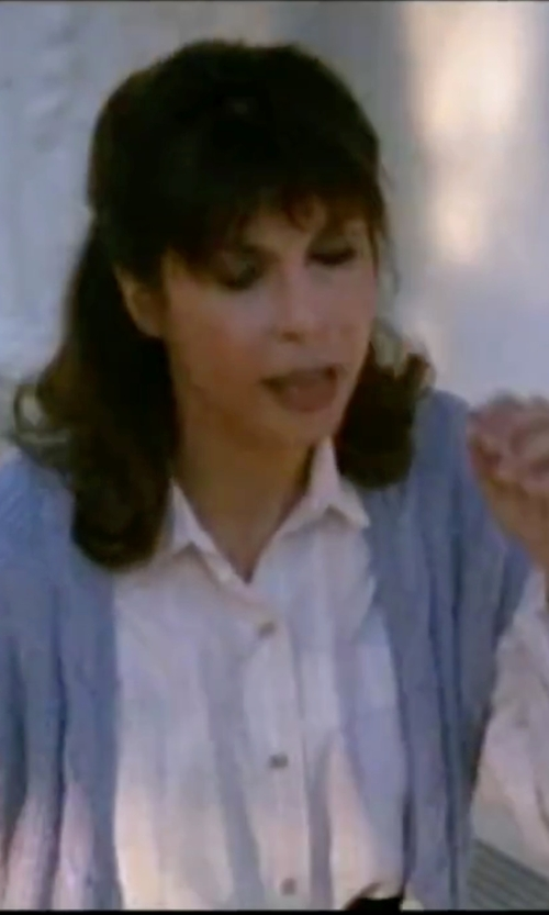 Talia Shire with Sofie D'hoore Puff Sleeve Blouse in Rocky IV