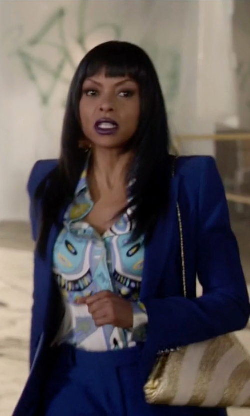Taraji P. Henson with Mara Hoffman Button-Down Shirt in Empire