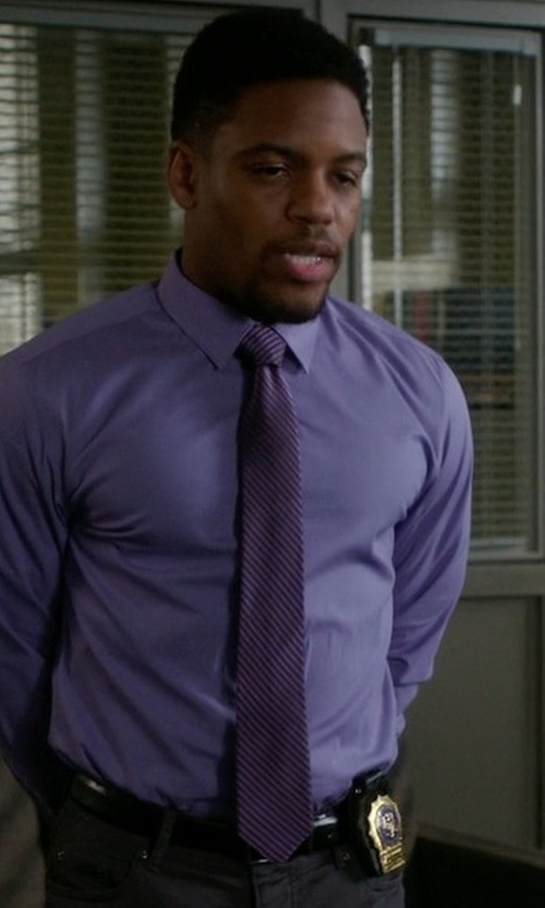 Jon Michael Hill with John Varvatos Star USA Seasonal Solid Skinny Tie in Elementary