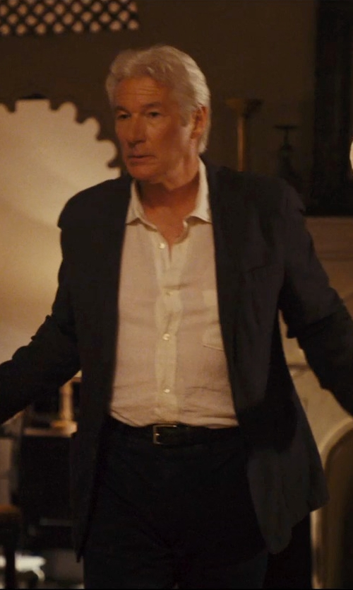 Richard Gere with Armani Collezioni Linen Sportshirt in The Second Best Exotic Marigold Hotel
