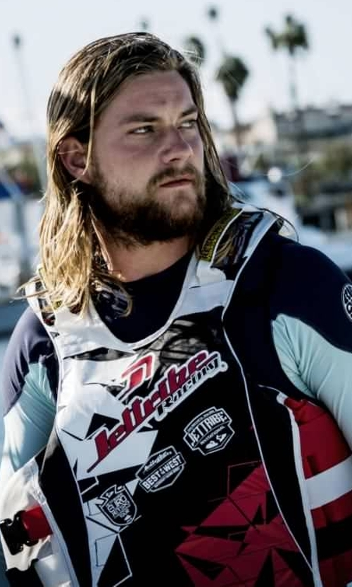 Jake Weary with Jettribe U.S.C.G. Shattered Side-Entry Vest in Animal Kingdom