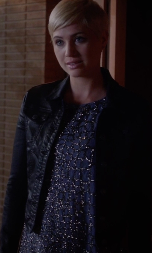 Dre Davis with W118 By Walter Baker Olivia Embellished Chiffon Top in Pretty Little Liars