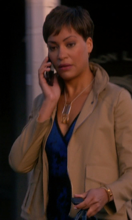 Cush Jumbo with Talbots Luxe Camel Hair Jacket in The Good Wife