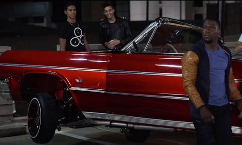 Kevin Hart with Chevrolet 1964 Impala SS Convertible in Ride Along 2