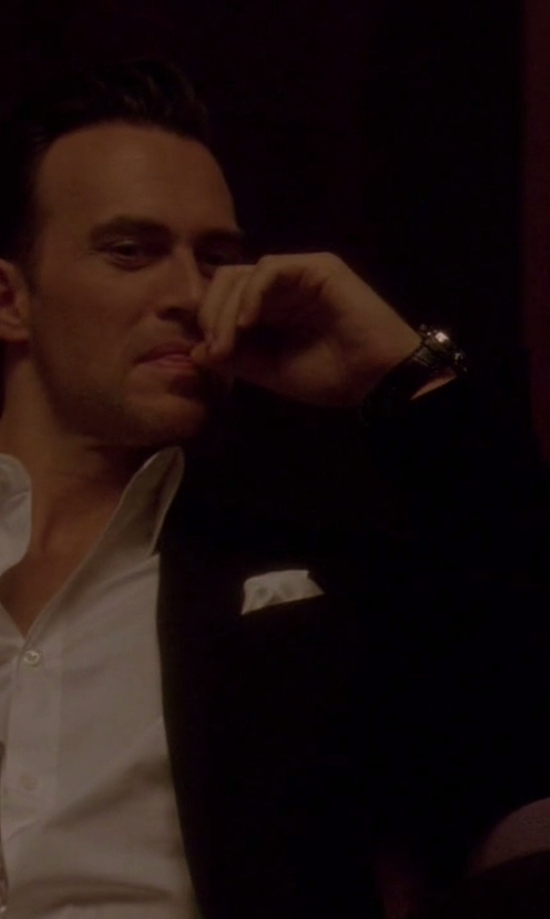 Cheyenne Jackson with Raymond Weil Leather Automatic Watch in American Horror Story