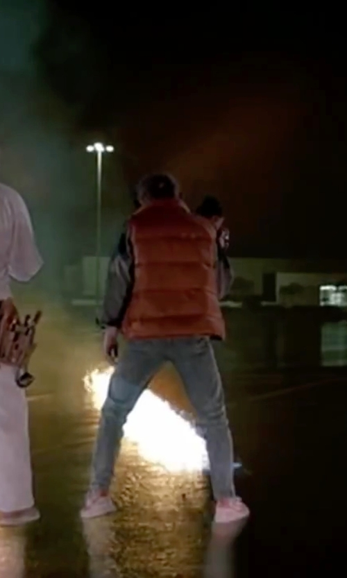 Michael J. Fox with Guess Marciano Two-Tone Blue Denim Jacket in Back To The Future Part II