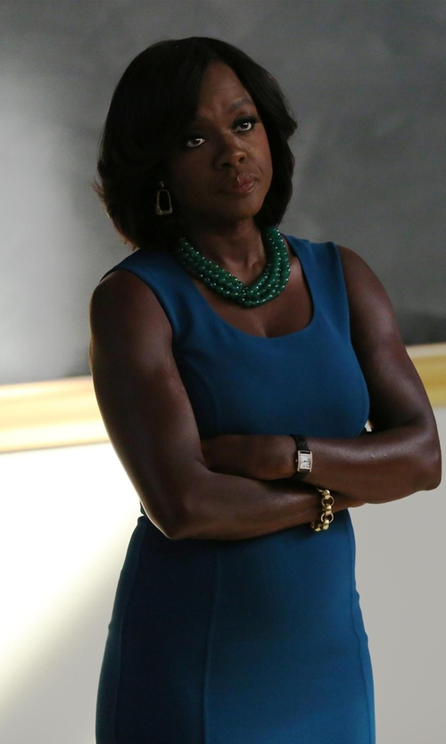 Viola Davis with Little Baby Kitty 1950s Jade Triple-Strand Necklace in How To Get Away With Murder