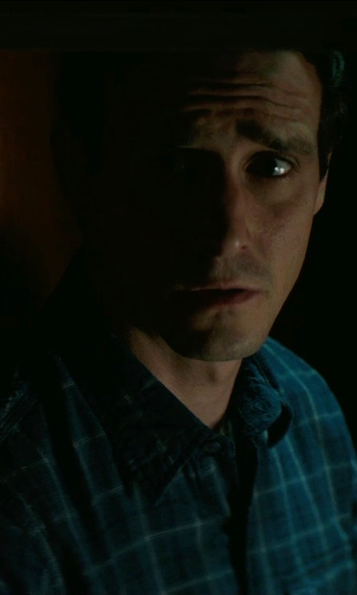 James Ransone with Original Penguin Modern Plaid Long-Sleeve Button-Down Shirt in Sinister 2