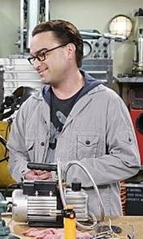 Johnny Galecki with Aquarama Jacket in The Big Bang Theory