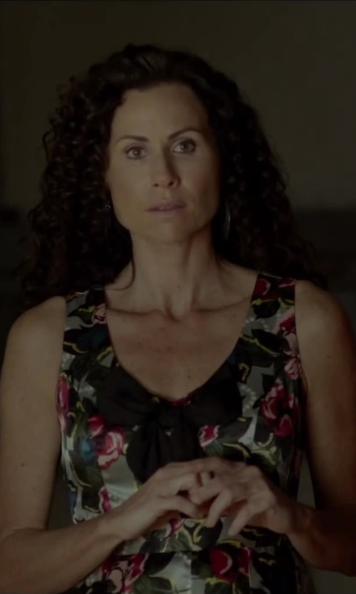 Minnie Driver with Roberto Cavalli Printed Dress in Beyond the Lights