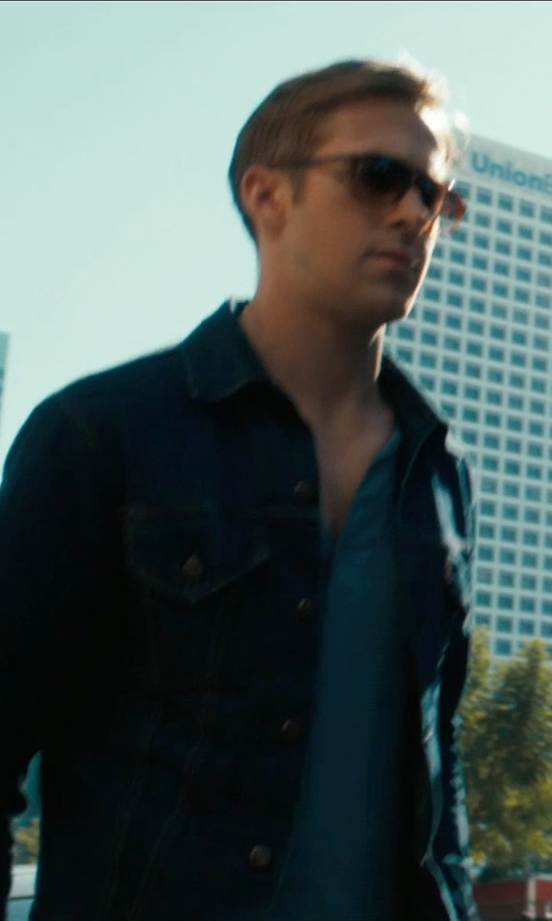 Ryan Gosling with Williams 1930s Henley T-Shirt in Drive