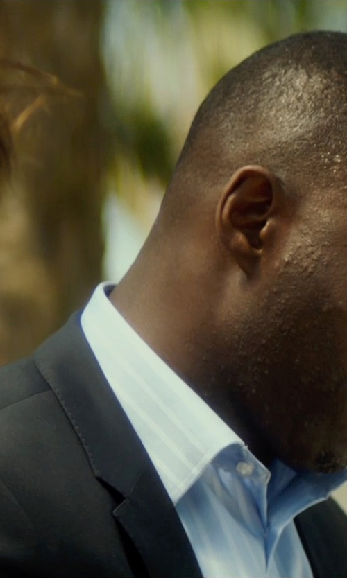 Idris Elba with Sean John Two Piece Peaked Lapel Suit in The Gunman