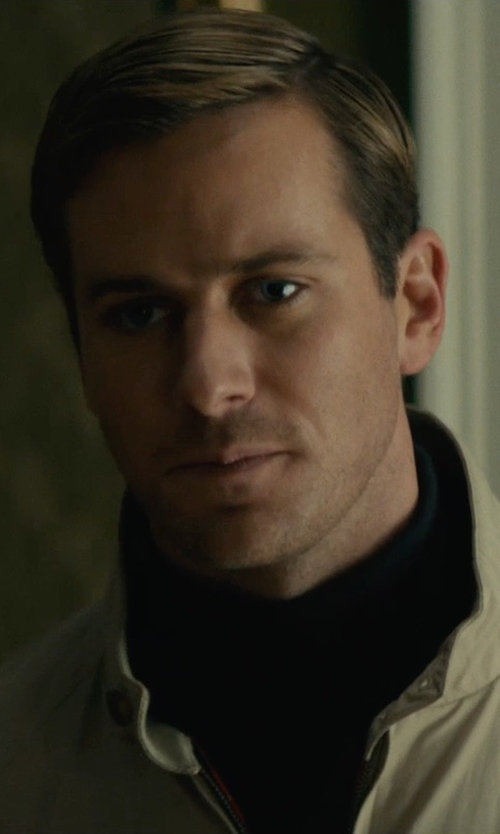 Armie Hammer with Jupiter Turtleneck Sweater in The Man from U.N.C.L.E.