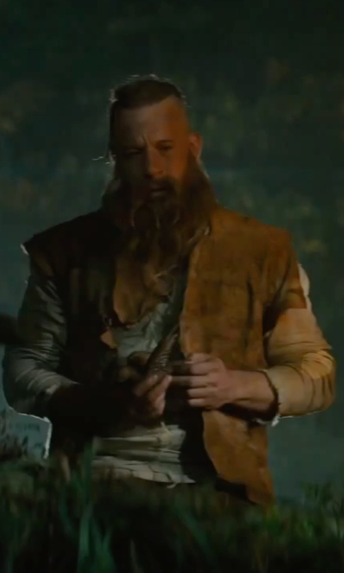 Vin Diesel with Luca Mosca (Costume Designer) Custom Made Vest (Kaulder) in The Last Witch Hunter