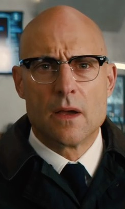 Mark Strong with Cutler & Gross 0755 Frame Eyeglasses in Kingsman: The Golden Circle
