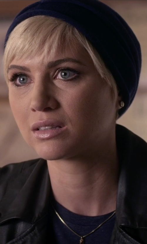 Dre Davis with Vince Camuto Gold-Tone Basic Stud Earrings in Pretty Little Liars