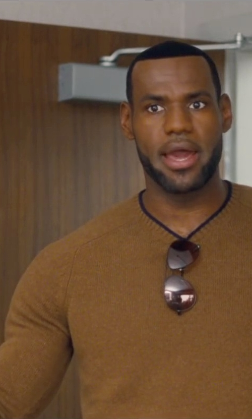 LeBron James with Brunello Cucinelli Crew Neck Sweater in Trainwreck