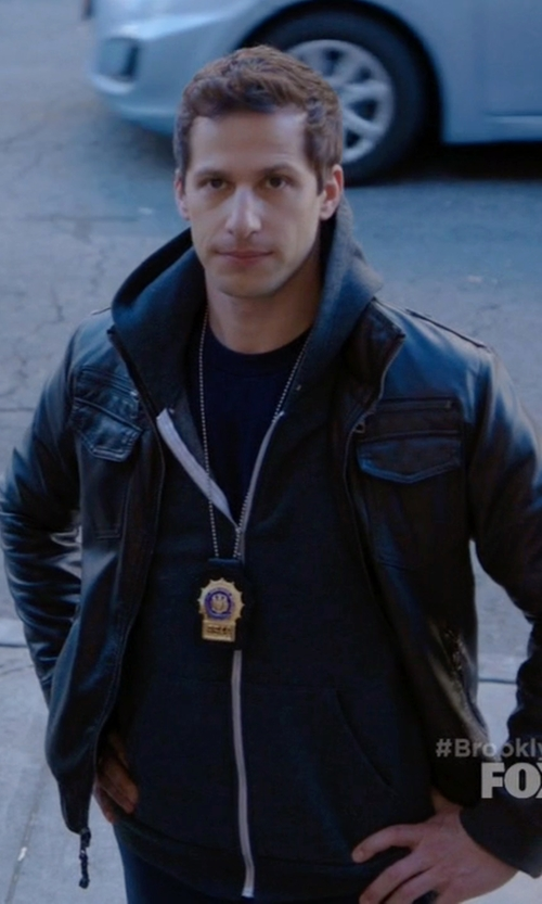 Andy Samberg with H&M Leather Jacket in Brooklyn Nine-Nine