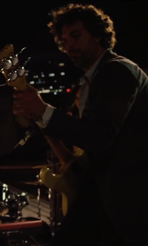 Mark Ruffalo with Fender Dee Dee Ramone Electric Bass Guitar in Begin Again