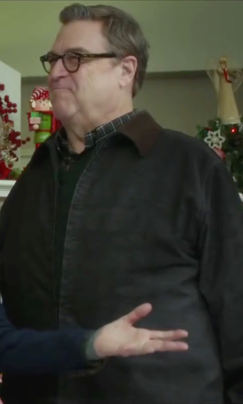John Goodman with Barbour 'Bedale' Waxed Cotton Jacket in Love the Coopers