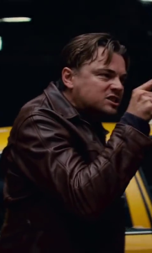 Leonardo DiCaprio with Jeffrey Kurland (Costume Designer) Custom Made Leather Jacket in Inception