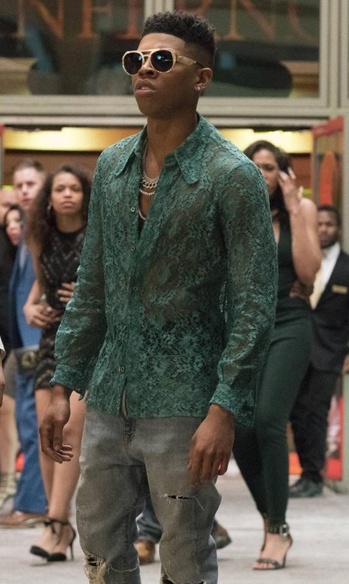 Bryshere Y. Gray with John Elliott The Cast 2 Jeans in Empire