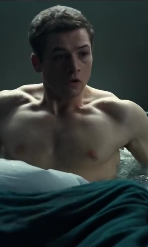 Taron Egerton with Vellux Fleece Blanket in Kingsman: The Secret Service