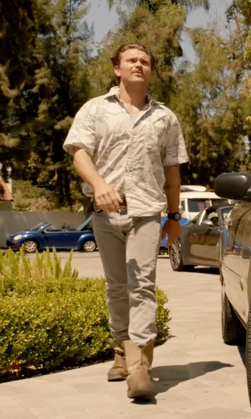 Clayne Crawford with Justin Original Wyoming Insulated Work Boots in Lethal Weapon