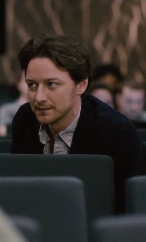 James McAvoy with Jack Spade Irving Cardigan in The Disappearance of Eleanor Rigby