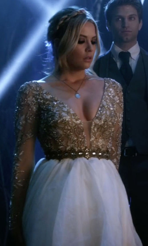 Ashley Benson with Anthropologie Delicate Tracery Belt in Pretty Little Liars