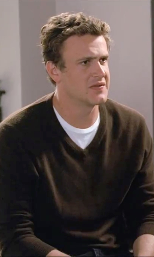 Jason Segel with Tommy Bahama Seaside Lux V-Neck Sweater in Forgetting Sarah Marshall