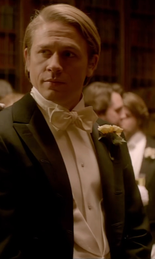 Charlie Hunnam with Brooks Brothers Cotton Pique Tuxedo Vest in Crimson Peak