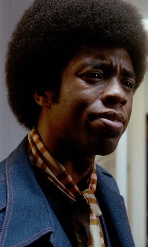 Chadwick Boseman with .Tessa Oblong scarf in Get On Up