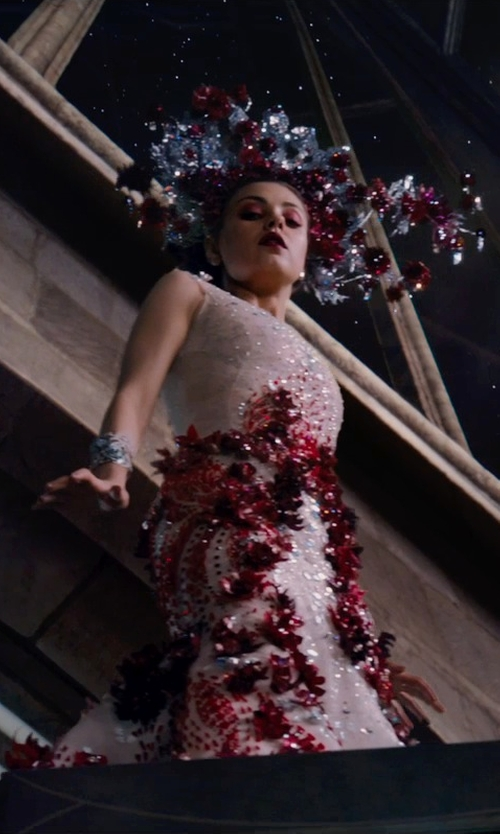 Mila Kunis with Michael Cinco (Fashion Designer) Custom Made Couture Dress in Jupiter Ascending