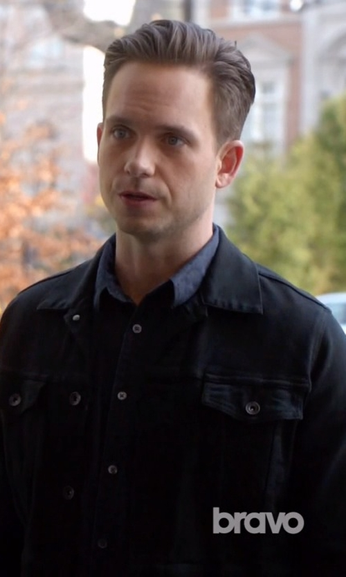 Patrick J. Adams with Agolde X A$ap Ferg Jacket in Suits
