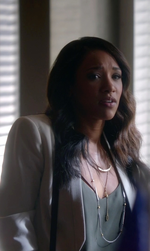 Candice Patton with NYDJ Modern Sleeveless Blouse in The Flash