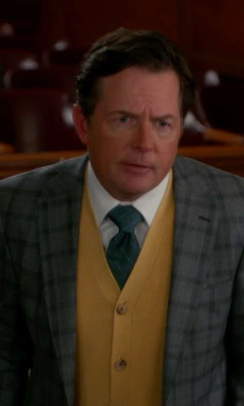 Michael J. Fox with Brooks Brothers Supima Cotton Bird's-Eye Vest in The Good Wife