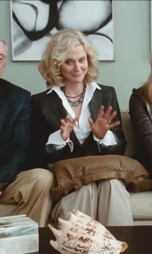 Blythe Danner with Lucien Pellat Finet Invisible Skull Oxford Shirt in Little Fockers
