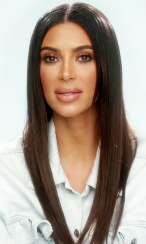 Kim Kardashian West with Kanye West I Feel Like Pablo Denim Jacket in Keeping Up With The Kardashians