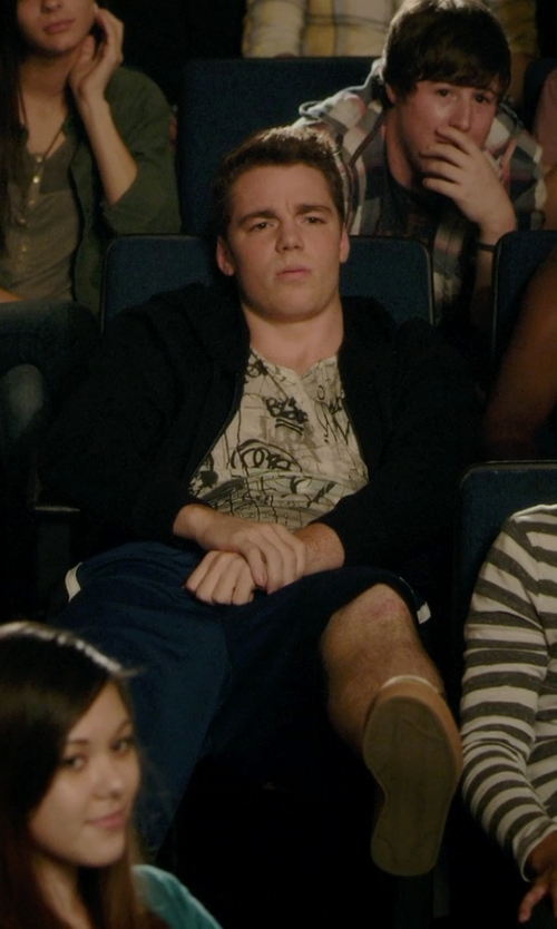 Gabriel Basso with All Saints Ribcage Crew T-Shirt in Barely Lethal