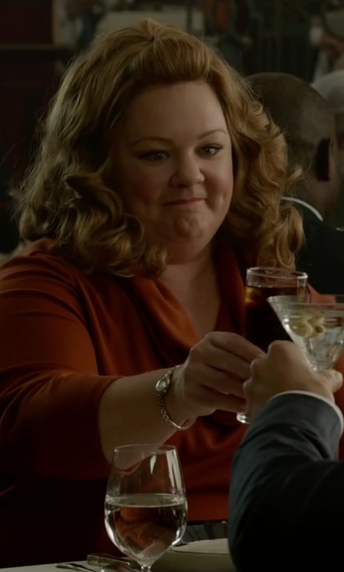 Melissa McCarthy with Calvin Klein Stainless Steel Bracelet Watch in Spy
