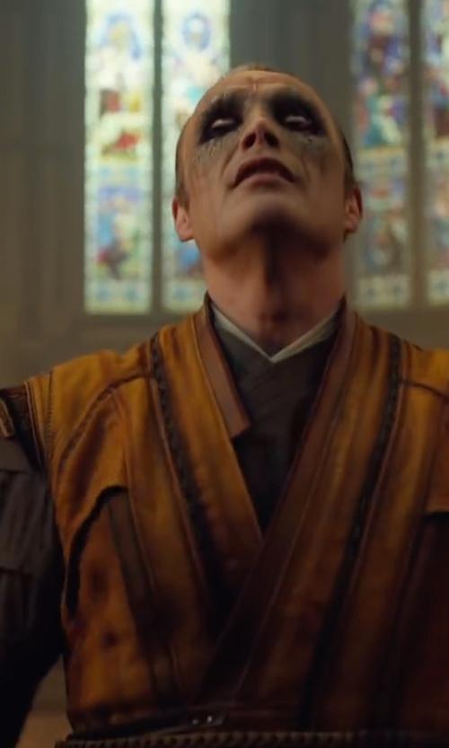 Mads Mikkelsen with Alexandra Byrne (Costume Designer) Custom Made Sorcerer Costume (Kaecilius) in Doctor Strange