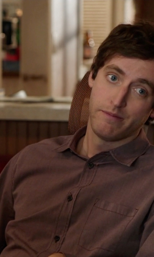 Thomas Middleditch with French Connection Men's Soft Underground Button-Front Shirt in Silicon Valley