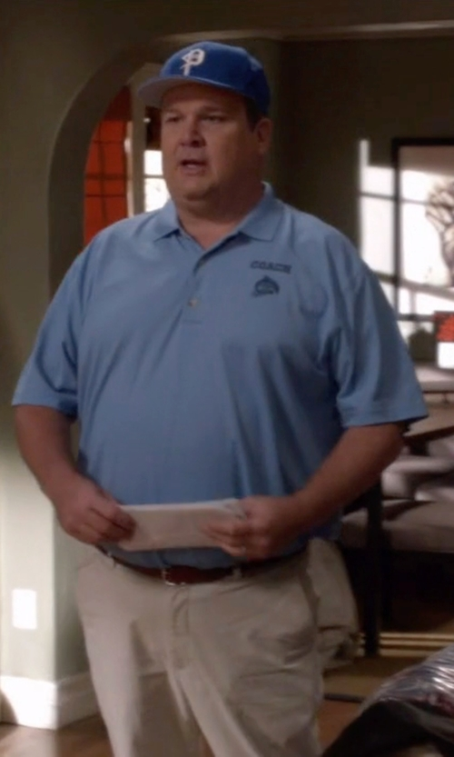 Eric Stonestreet with John Varvatos Collection Edge Stitch Leather Belt in Modern Family