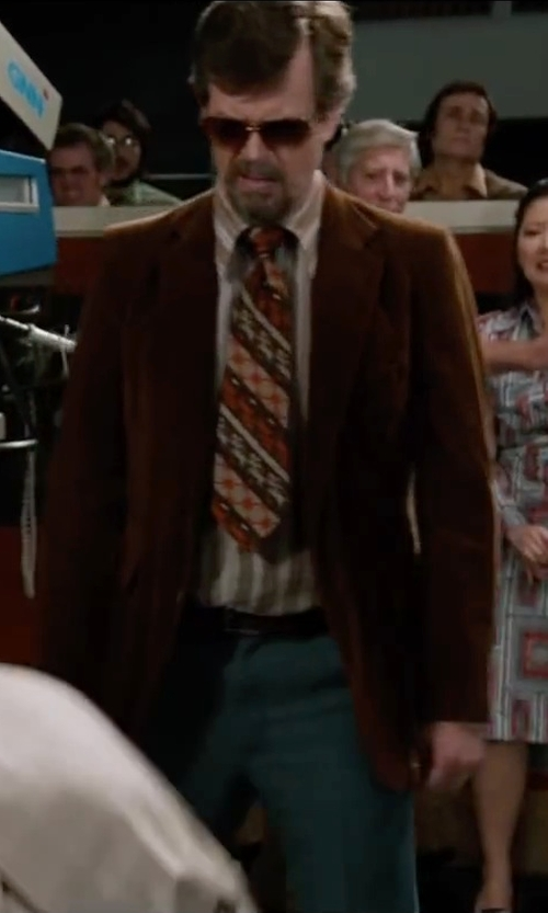 Dylan Baker with Yournecktieshop Leopard Cats on Tree Branches - Vintage Tie in Anchorman 2: The Legend Continues