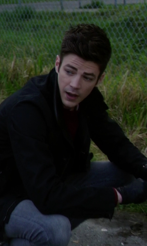 Grant Gustin with Victorinox Swiss Army 'Fourier' Full Zip Track Jacket in The Flash